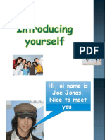 1 Introducing Yourself Verb to Be