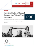 How the Dalits of Bengal Became the 'Worst Victims' of Partition