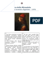 Oratio de Hominis dignitate - Pico Della Mirandola