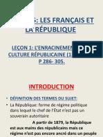 L'ENRACINEMENT DE LA REPUBLIQUE