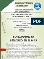 Extraccion de Petroleo en El Mar