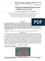 Adsorption of lead from Industrial Waste Water by acidified neem saw dust