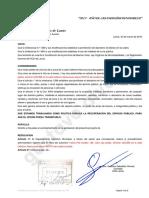 Proyecto Resolución Retiro Automóvil de Namuncura y San Vladimiro