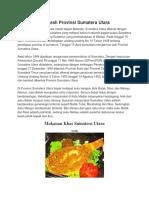 Sejarah Provinsi Sumatera Utara