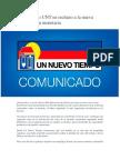 Comunicado UNT en Rechazo a La Nueva Reconversión Monetaria_ Prensa Un Nuevo Tiempo