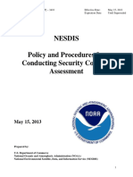 US - Policy and Procedures for Conducting Security Controls Assessment_March_2015