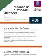 Esquistosomiasis Por Schistosoma Mansoni