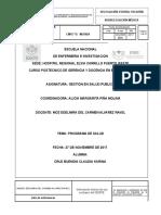 Program a de Salud Enf de Chagas