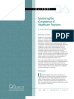 White Paper Measuring Comptence of Healthcare Workers