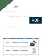 Instrumentos de medicion para materia prima