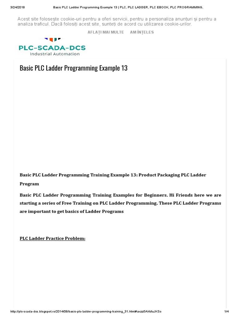 basic plc ladder programming example 13 programmable logic