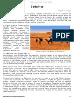 Beduínos - Povos Nômades Do DesertoAnti-Intelectualismo é o Nome Dado à Prática de Desprezar o Cultivo Da Inteligência, o Sistema Educacional Convencional, e Em Última Instância, o Pensamento Racional.