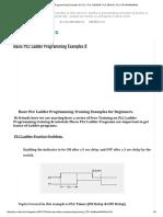 Basic PLC Ladder Programming Examples 8