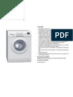 Manual para la lavadora Balay 3TS72100A