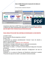 Como activar o desactivar el DEP   EM  W7   .docx