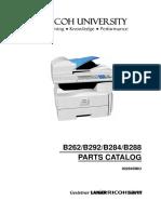 Manual de Partes Ricoh MP161