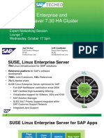 SUSE Linux Enterprise and SAP NetWeaver 7.30 HA Cluster