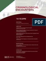 Criminological Encounters  Vol 1 (1) 2018