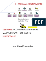 Proyecto Final Mantenimiento 1
