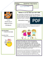 parent newsletter august welcome  1