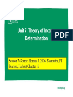 Lecture #7- Theory of Income Determination