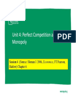 Lecture #4- Perfect Competition and Monopoly