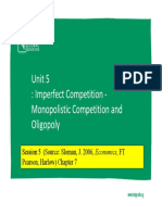 Lecture #5- Imperfect Competition