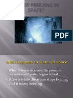 Water Freezing in Space
