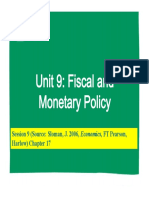 Lecture #9- Fiscal and Monetary Policy