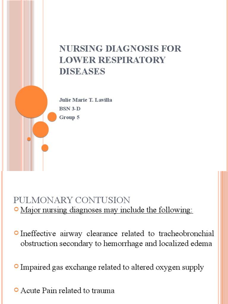 Nursing Diagnosis for Lower Respiratory Diseases