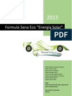 Informe Formula Sena Eco 2013 (Energia Solar)
