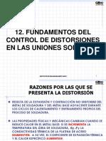 Control de Distorsiones en las uniones soldadas