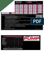 CoachWoot Les Mills Pump Workout Tracking Sheet Schedule Worksheet