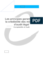 Les Principes Garantissant La Crédibilité Des Missions d'Audit Légal