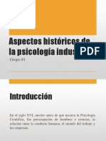 Aspectos Históricos de La Psicología Industrial
