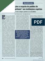 """Considerações a respeito de pedidos de """"orientações espirituais"""" nas instituições espíritas  _ Vitor Ronaldo Costa"""