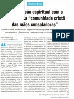 """Desobsessão espiritual com o concurso da """"comunidade cristã das mães consoladoras""""  _ Vitor Ronaldo Costa"""