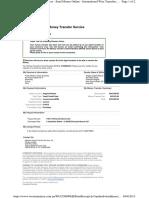 Western Union Money Transfer - $493 pago