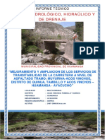 Hidrologia e Hidraulica Acosvinchos