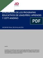 Evaluacion de Los Programas Educativos de USAID-PERU AprenDes