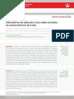 Estudio Redes Sociales Lima