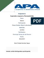 TAREA 6 -Expresión Corporal y Psicomotricida