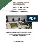 Plan de Contingencia Emergencia y Desastre Ucs 2017