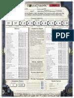 Count Vito Character Sheet