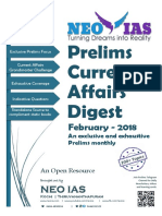 NEO IAS Prelims Current Affairs Digest February 2018
