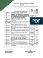 Tspsc Exam Dates Press