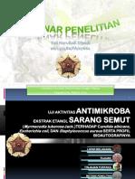Presentasi Seminar Skripsi Uji Aktivitas Antimikoba Ekstrak Sarang Semut