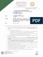 Regional Memorandum No. 185 S. 2018