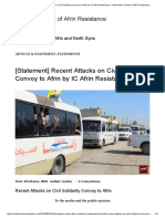 [Statement] Recent Attacks on Civil Solidarity Convoy to Afrin by IC Afrin Resistance – Information Center of Afrin Resistance