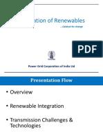 Renewable Integration - POWERGRID